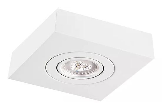 Plafon Sobrepor Face Plana Quadrado PAR30 13,5x17x17cm Metal Impacto M301-S