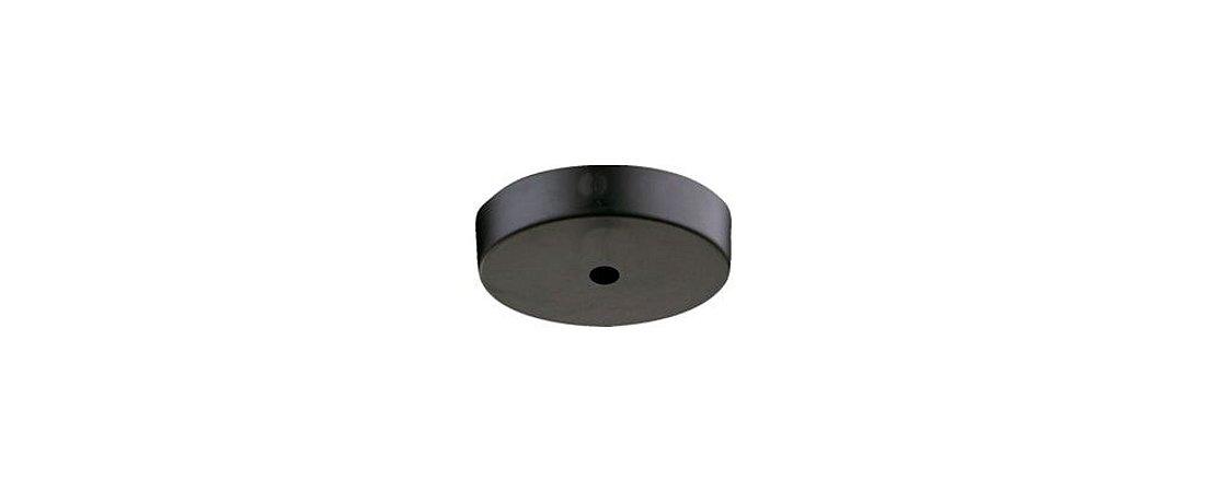 Canopla Redondo para Pendente Único Metal Preto Fosco Stella SD8597