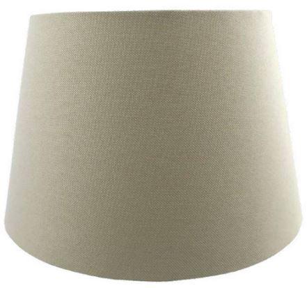 Cúpula De Abajur Linen Tecido 35cm Cor Bege Bella Iluminação AL001B