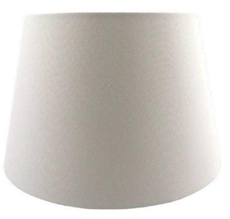 Cúpula de Abajur Linen Tecido 35cm Cor Off White Bella Iluminação AL001W