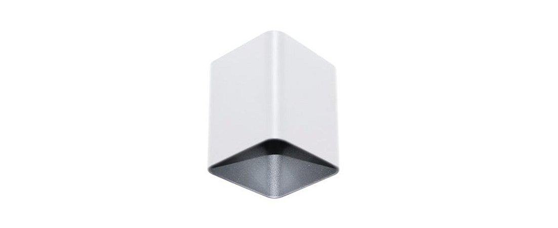 Semiembutido Frank Quadrado Branco e Cromado Metal Stella SD5008