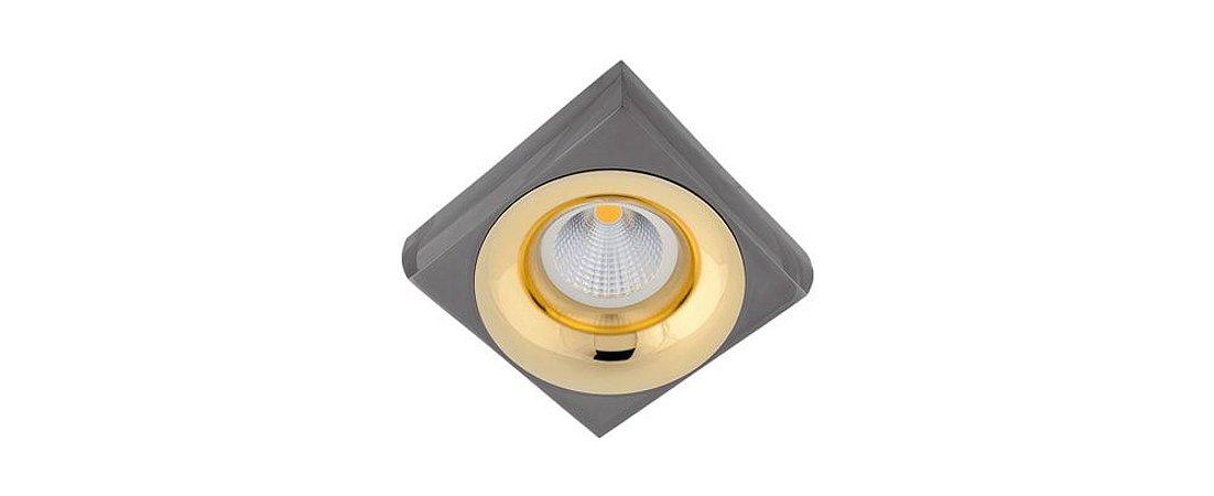 Semiembutido Locana Quadrado Preto e Dourado Metal Stella SD4702Q