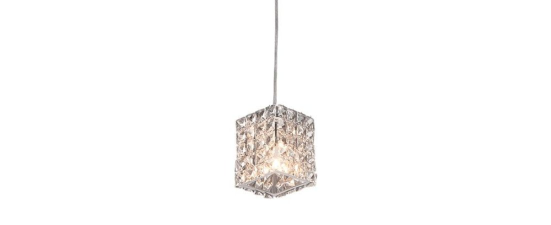 Pendente Freya Retangular Cristal Transparente Stella SD8900