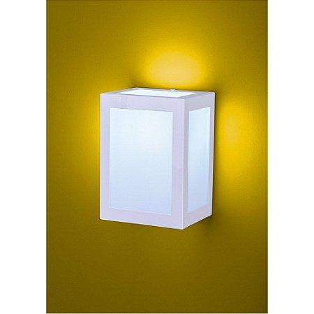 Arandela Bolt Quadrada 1xE27 15x12,5x10cm Difusor em Vidro Transparente Vintage Ideal 290