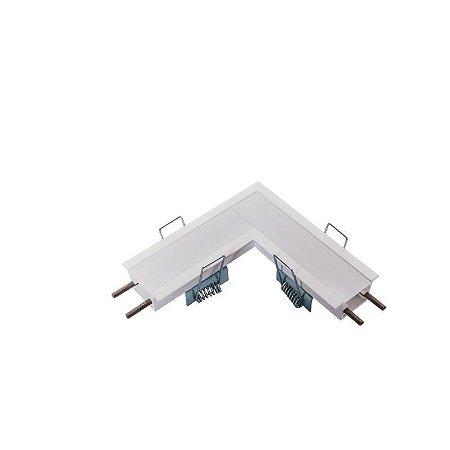 Junção Teto/Teto Sistema de Embutir Linear Linha Garbo 100x100mm Usina 30031/TT