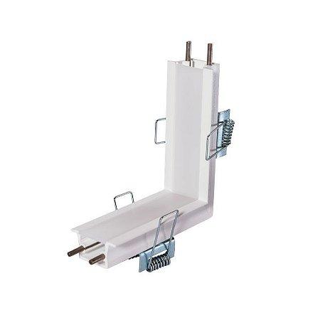Junção Parede/Teto Sistema Embutir Linear Linha Garbo 100x100mm Usina 30032/TP