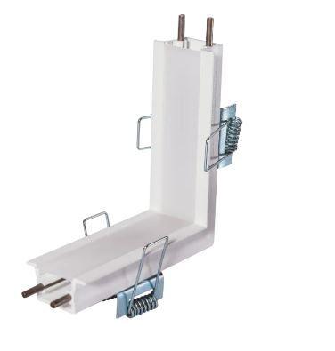 Junção Quina Sistema Embutir Linear Linha Garbo 100x100mm Usina 30033/QI