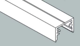 Perfil Sobrepor Linear Garbo 23x1250x17mm Usina 30020125