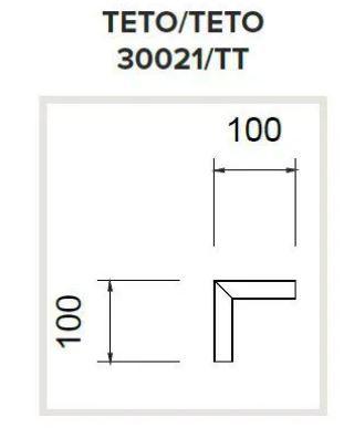 Junção Teto/Teto Sistema Linear de Sobrepor Linha Garbo 100x100mm Usina 30021/TT