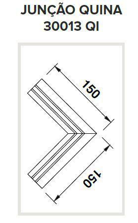 Junção Quina Sistema de Embutir Linear Linha Infinity 150x150mm Usina 30013/QI