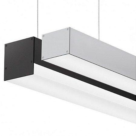 Perfil Sobrepor LED Difusor Flat Linear 1MT Led Incluso 14,4W/M 1350LM K50 MisterLed SLED9021