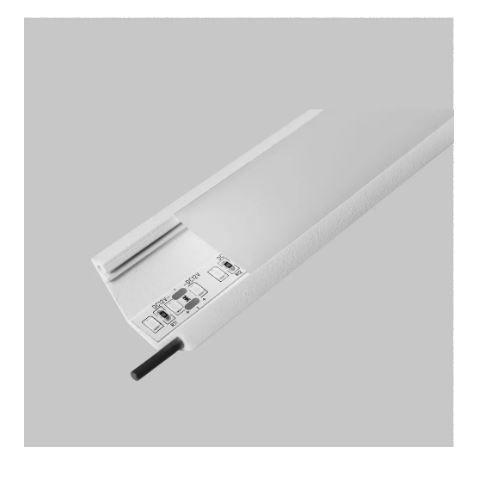 Perfil Sobrepor Linear Linha D45 41x1500x17mm Usina 30050/150