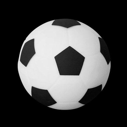 Luminária de Mesa Bola de Futebol Branca e Preta Usare 1667