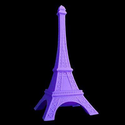 Luminária de Mesa Torre Eiffel Cor Lilás Usare 1197