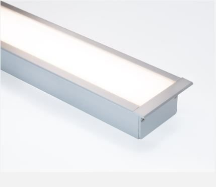Perfil Embutir de Alumínio Wide Difusor Leitoso Barra 250cm Revoled AP5101