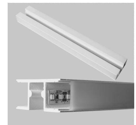 Perfil Sobrepor Linear Linha Double com Difusor 50x2000x24mm Usina 30650/200