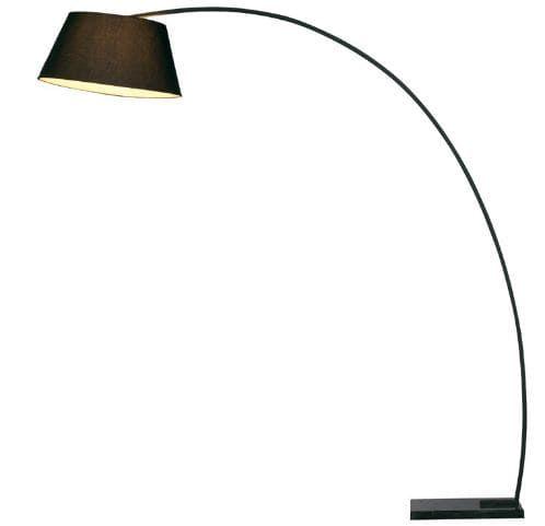 Coluna Post Metal, Mármore e Tecido 198x163x50cm 1xE27 40W Bivolt Cor Preta Casual Light CL1024