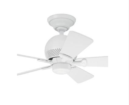Ventilador de Teto Hunter Fan Orbit Branco 5 pás sem luminária 110V Hunter Fan 50023
