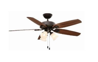 Ventilador de Teto Hunter Fan Builder Plus Bronze 5 pás com luminária 110V Hunter Fan 50062