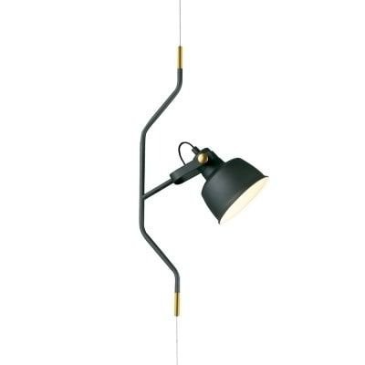 Pendente Lift Metal 30x15x60cm 1xE27 40W Cor Preto Com Detalhe Dourado Casual Light PD1071-PT