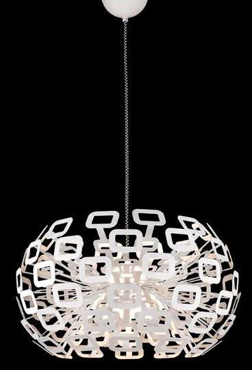 Pendente Bobe 61cmX176cm com LED 45w Cor Branco Bella Iluminação HO100M