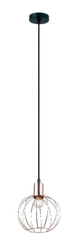 Pendente Neo Redondo Aramado Metal 18x21,5cm 1XE27 40W Cor Cobre Casual Light PD1121-CO