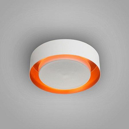 Luminária Sobrepor Eclipse Alumínio 30x08cm 3xE27 LED Bulbo A60 12W Itamonte Nac 3046/30