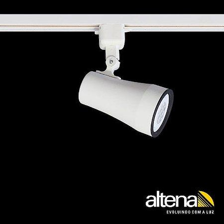 Spot Soft com Plug Altrac para Trilho Eletrificado PAR-20 (E-27) (Branco Fosco)  Altena ALT05020 BF