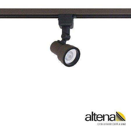 Spot Style com Plug Altrac para Trilho Eletrificado GU10 Marrom Café Altena ALT07016 MC