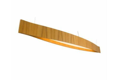 Pendente Canoa 150x16x20cm Fita de LED 6W/M Cor Louro Feijó Accord 1289