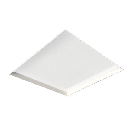 Painel de Embutir no Frame Quadrado Metal e Acrílico Bulbo 20,7x20,7cm Branco Newline IN60201BT