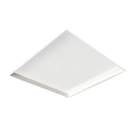 Painel Embutir No Frame Quadrado 28,6x28,6cm Metal e Acrílico 4XE27 Branco Newline IN60202BT