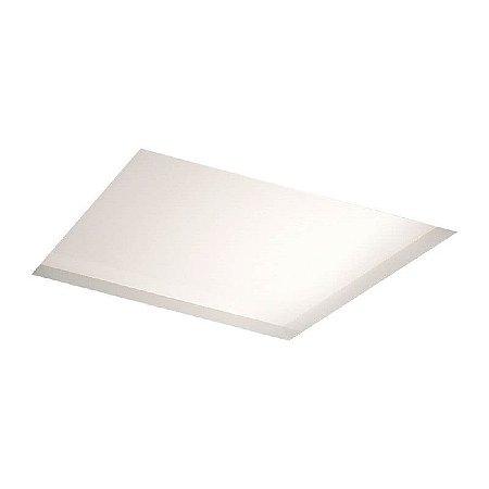 Painel Embutir No Frame Quadrado 59,6x59,6cm 4xT8 60cm Metal e Acrílico Cor Branco Newline IN60216BT