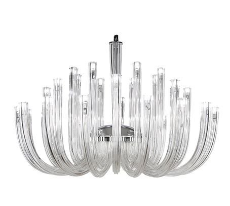 Lustre Iris em Vidro Transparente 32xG9 - Bivolt D90 x A68cm Arquitetizze LC9011-32.000