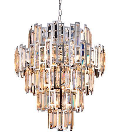 Lustre Hera Transparente c/ Metal Cromado 15XE14 – BIVOLT D66 X A57cm Arquitetizze LC9210-15.000