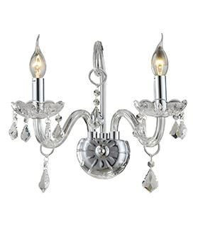 Arandela de Cristal Maria Thereza Transparente 2 Braços A34,5 X L24,5cm Arquitetizze AR1411-2.000