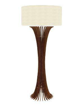 Coluna Curva 160x70cm 1XE27  Cor 06 - Imbuia  Accord 363