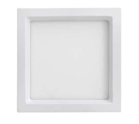 Luminária Embutir Quadrada Branca 22,5x22,5cm Bivolt 20W  3000K  1220LM 120º  Saveenergy SE-240.1651