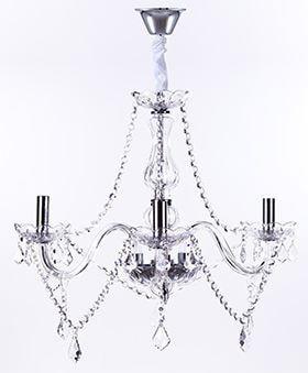 Lustre Maria Thereza Transparente 3 Braços D55 x A50cm E14 Arquitetizze LC1411-3.000