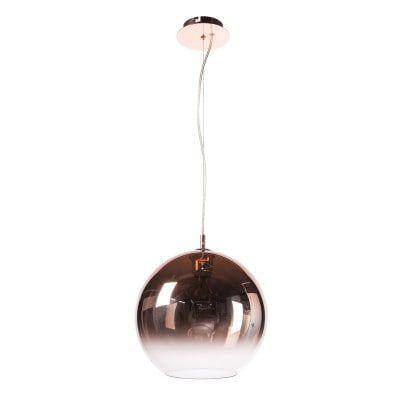 Pendente Bocci Esfera Metal e Vidro Ø30 Cor Cobre Bella Iluminação OD038EM