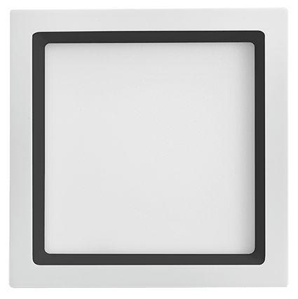 Painel Embutir Recuado Quadrado 17x17cm 12W 3000K Branco com Recuo Preto Bivolt 900LM 120º Saveenergy SE-240.1672