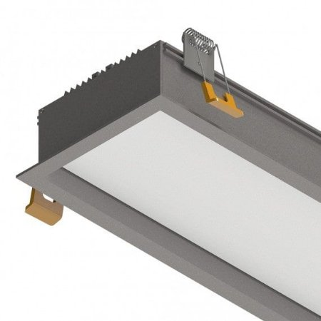 Perfil Embutir Difusor Recuado E100 43W 3300 Lumens  IP20 1MT Misterled SLED9077