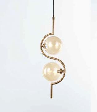 Pendente Deuce Metal e Vidro 17x12x49,5cm 2xG9 5W Bivolt Cor Bronze Casual Light  PD1347