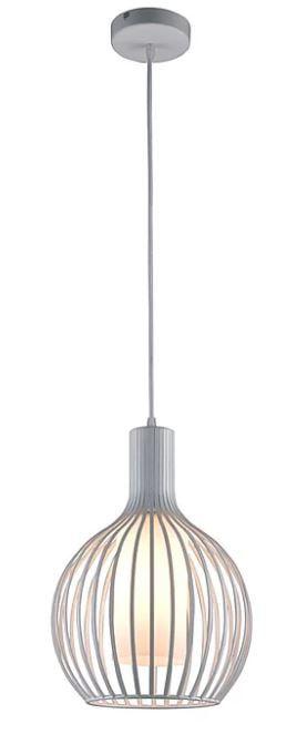 Pendente Metal/Vidro Branco 1XE27 40W 30X40cm Quality ID8153-BR