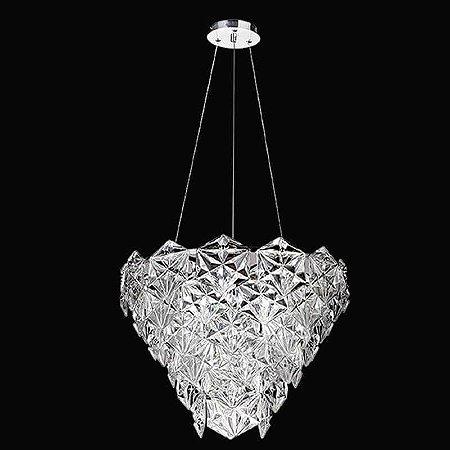 Lustre Zara Cristal 40xØ50  6XE14 - Cromado e Transparente Bella Iluminação BM001C