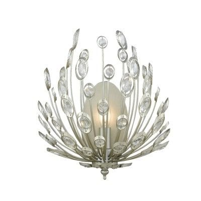 Arandela Lore 36x30x18cm 1xE14 40W Prata Envelhecida e Transparente Bella Iluminação BO012