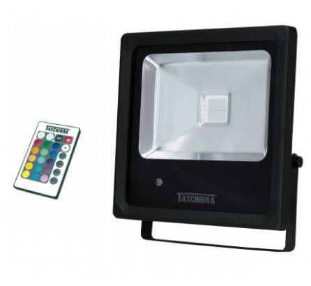 Refletor TR LED 20W RGB 170x195x25mm Preto Taschibra 7897079057201