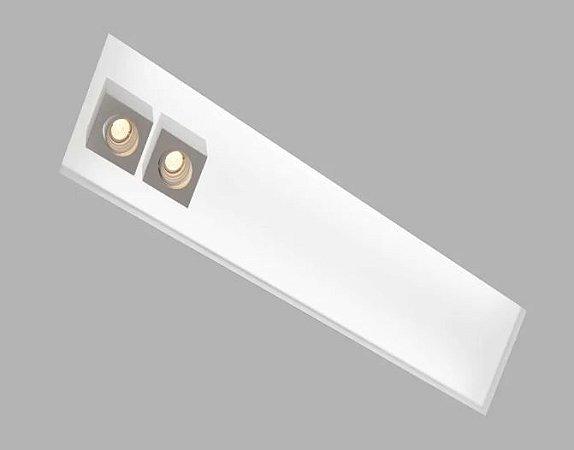 Embutido Box 325x1260x100mm 4xT8 120cm + 2xGU10 MR16 Usina 30327/130F