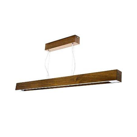 Pendente Retangular Slim Madeira 8x65x7 Cor 06 - Imbuia Accord 1115