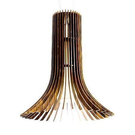Pendente Cilíndrico Stecche Di Legno Madeira Nº3 50xØ44 Cor 06 - Imbuia Accord 1136